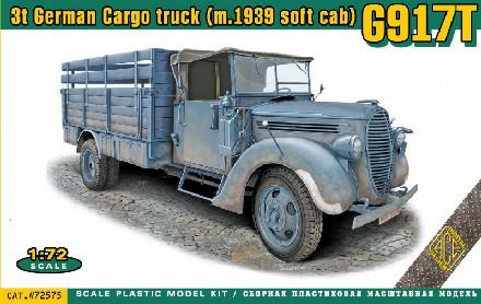 Ace Military 1/72 German G917T (m.1939 soft cab) 3-Ton Cargo Truck Kit