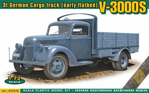 Ace Military 1/72 V3000S 3-Ton German Cargo Truck (Early Flatbed) Kit