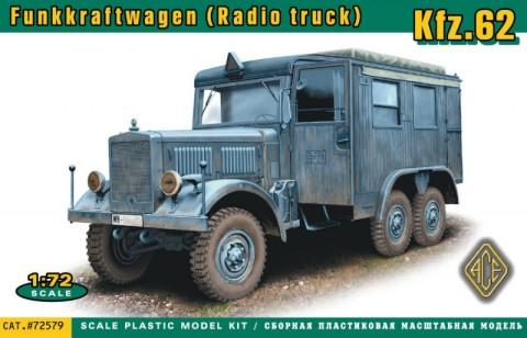 Ace 1/72 Kfz62 Funkkraftwagen Radio Truck Kit