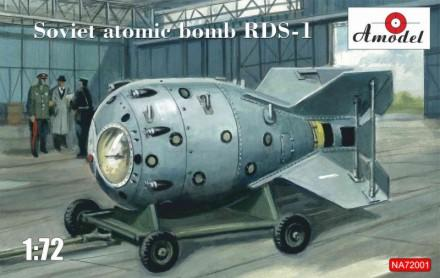 Ace Military 1/72 RDS1 Soviet Atomic Bomb w/Trailer Kit