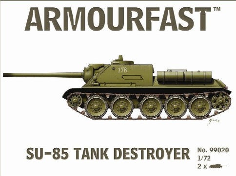 Armourfast Military 1/72 Su85 Tank Destroyer (2) Kit