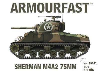 Armourfast Military 1/72 Sherman M4A2 75mm Tank (2) Kit