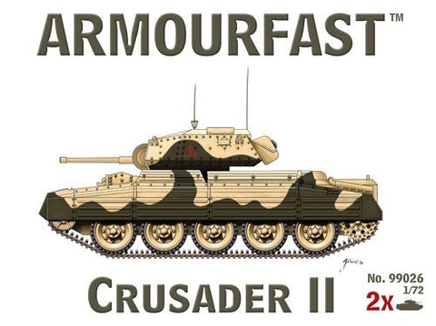 Armourfast Military 1/72 Crusader II Tank (2) Kit