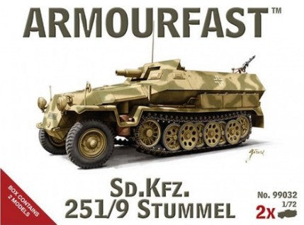 Armourfast Military 1/72 SdKfz 251/9 Stummel Tank (2) Kit