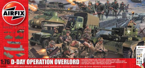 Airfix Military 1/72 D-Day Operation Overlord Gift Set w/Paint & Glue (Re-Issue) Kit