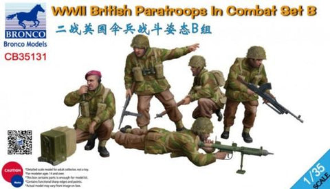Bronco Military 1/35 WWII British Paratroops in Combat Set B (5) Kit