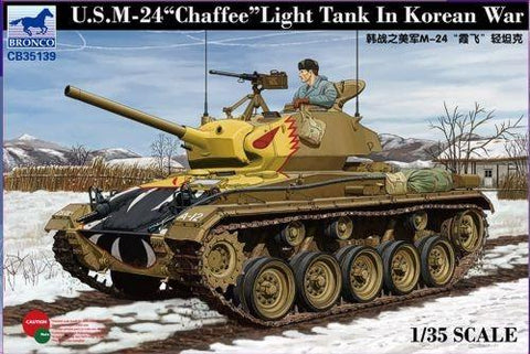 Bronco Military 1/35 US M24 Light Tank Chaffee Korean War Kit