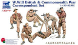 Bronco Military 1/35 WWII British & Commonwealth War Correspondent Figures (6) Kit