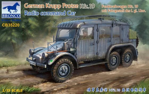 Bronco Military 1/35 German Krupp Protze Kfz 19 Radio Command Car Kit
