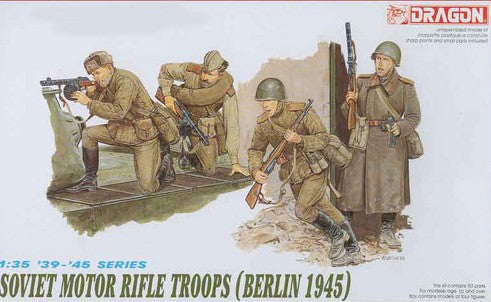 Dragon Military 1/35 Soviet Motor Rifle Troops Berlin 1945 (4) Kit