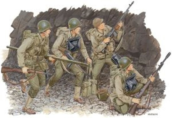Dragon Military 1/35 US Rangers Normandy 1944 (4) Kit