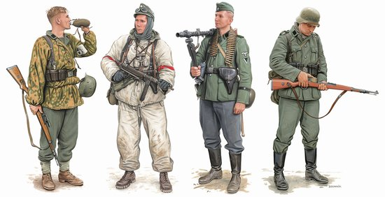 Dragon Military 1/35 German Elite Infantry Russia 1941-43 (4) Kit