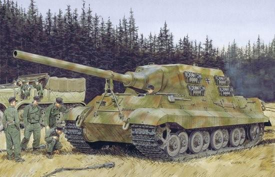 Dragon Military 1/35 Jagdtiger Porsche Production Tank (2 in 1) Kit
