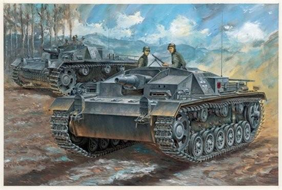 Dragon Military 1/72 StuG III Ausf C/D Tank Kit