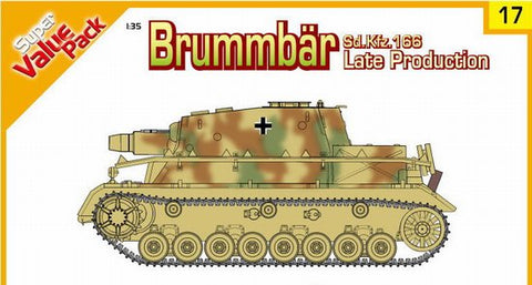 Cyber-Hobby 1/35 Brummbar SdKfz 166 Late Tank w/Crew East Prussia 1945 Kit