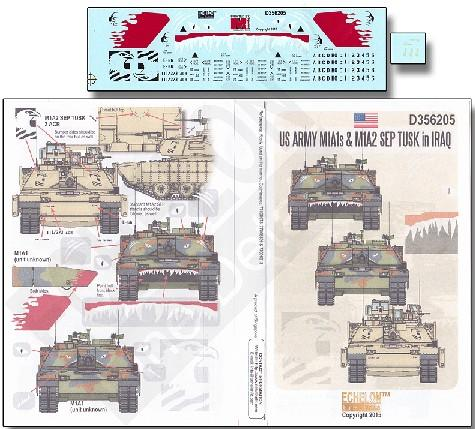 Echelon Decals 1/35 US Army M1A1s & M1A2 SEP Tusk Iraq