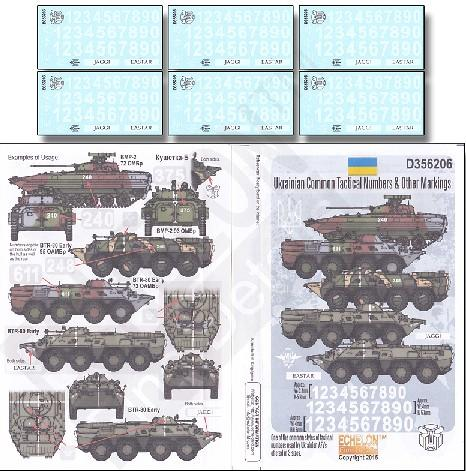 Echelon Decals 1/35 Ukraine Common Tactical Numbers & Other Markings