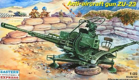Eastern Express Military 1/35 ZU23 Russian Anti-Aircraft Gun Kit