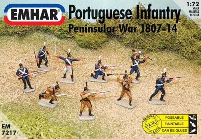 Emhar Military 1/72 Peninsular War 1807-14 Portuguese Infantry (46) Kit