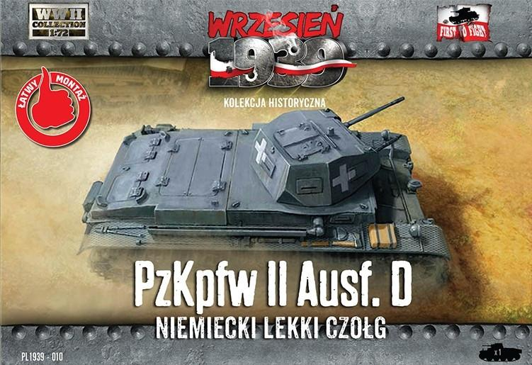 First To Fight 1/72 PzKpfw II Ausf D German Light Tank Kit