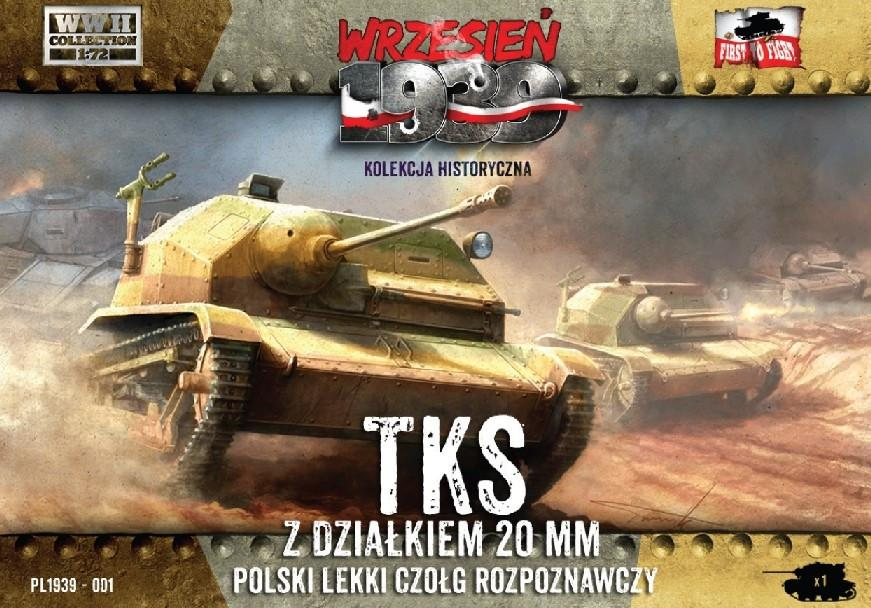 First To Fight 1/72 TKS Polish Light Recon Tank w/20mm Gun Kit