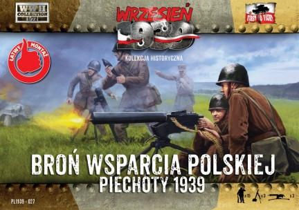 First To Fight 1/72 WWII Polish Infantry Support Weapons w/15 Crew Kit