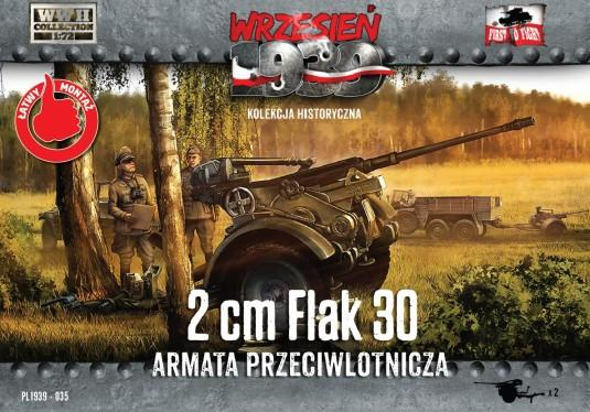 First To Fight 1/72 WWII 2cm Flak 30 Gun (2) Kit