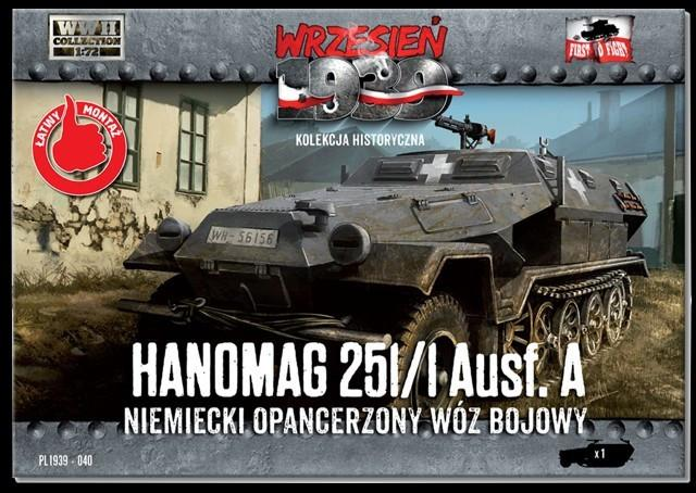 First To Fight 1/72 WWII Hanomag 251/1 Ausf A Halftrack Kit