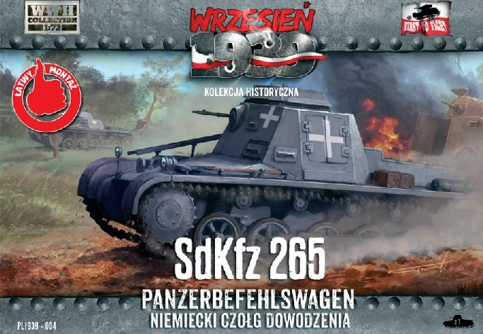First To Fight 1/72 SdKfz 265 Panzerbefehlswagen German Command Tank Kit