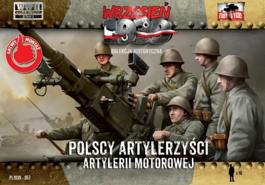 First To Fight 1/72 WWII Polish Anti-Air Gun Crew (16) Kit