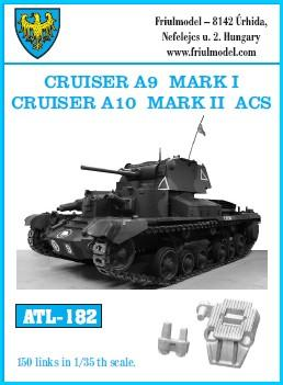 Friulmodel Military 1/35 Cruiser A9 Mark I Cruiser A10 Mark II ACS Track Set (150 Links)