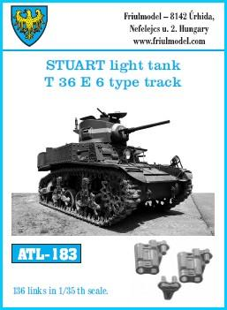 Friulmodel Military 1/35 Stuart Light Tank T36 E6 Type Track Set (136 Links)