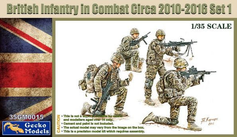 Gecko 1/35 British Infantry in Combat 2010-12 Set 1 (4) (New Tool) Kit