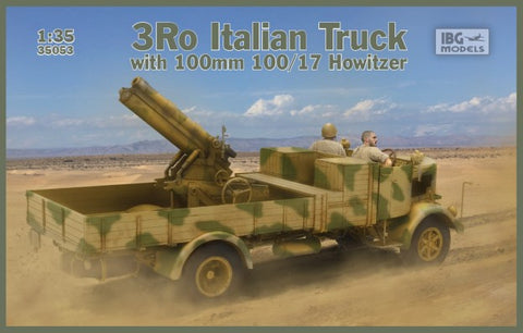 IBG Military 1/35 3Ro Italian Truck w/100/17 100mm Howitzer (New Tool) Kit