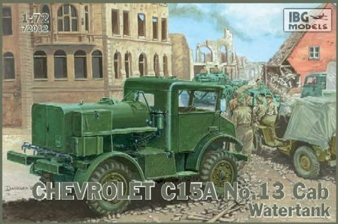IBG Military 1/72 Chevrolet C15A Cab 13 Water Tank Military Truck Kit