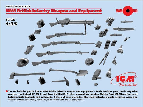 ICM 1/35 WWI British Infantry Weapons & Equipment Kit