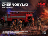 ICM Military Models 1/35 Chernobyl #2: Fire Fighter Diorama Set (AC40-137A Fire Truck, 4 Figures, Base)