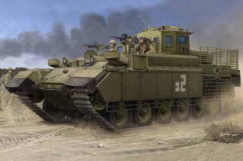 This is an image of the Hobby Boss Military 1/35 IDF Combat Engineering Vehicle Kit