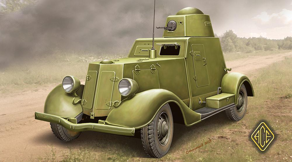 Ace 1/48 Ba20 Late Production Light Armored Car Kit