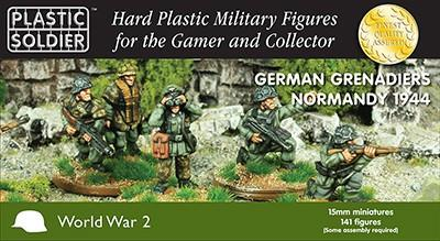 Plastic Soldier 15mm German Grenadiers in Normandy 1944 (141) Kit