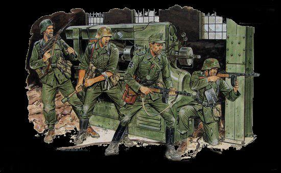 Dragon 1/35 Cross of Iron German Soldiers Eastern Front 1944 (4) Kit