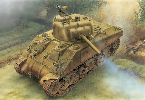 Dragon Military 1/35 M4 Sherman Tank w/75mm Gun Normandy Kit