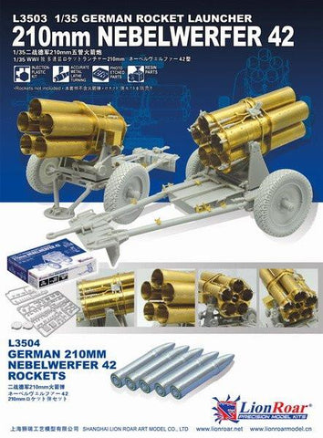 Lion Roar Military 1/35 German Rocket Launcher 210mm Nebelwerfer 42 Kit