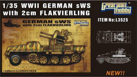 Lion Roar Military 1/35 WWII German sWS w/2cm FlaK Gun Kit