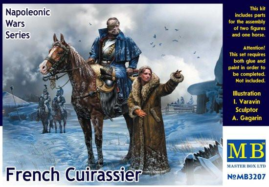 Master Box 1/32 Napoleonic Wars French Mounted Cuirassier & Russian Girl Winter Dress Kit
