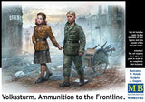 Master Box 1/35 Children (2) w/Ammo Cart Heading to the Frontline Kit