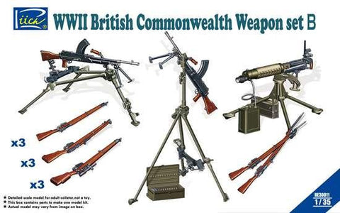 Riich Military 1/35 WWII British Commonwealth Weapon Set B Kit