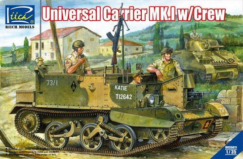 Riich Military 1/35 Universal Carrier Mk.I w/Crew and Photo-etched Parts Kit