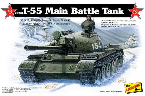Lindberg Military 1/35 USSR T55 Tank Kit