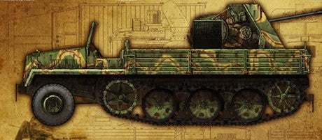 Lion Roar Military 1/35 WWII German sWS Halftrack w/3.7cm FlaK 43 AA Gun Kit